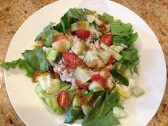 hcg diet recipe - Phase 2 - Crab Salad with Tomato Basil Vinaigrette
