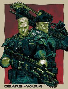 Gears of War 4 Poster - Tony Moore, Colors: Rico Renzi Xbox 360, Game Character, Character Concept, Concept Art, Character Ideas, Gears Of War 3, Comic Frame, Arte Nerd, War Comics