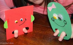 2D Shapes and Mathematical Language - these are super cute and a great idea! (Frog Spot)