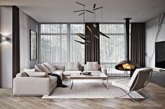 Showcase and discover creative work on the world's leading online platform for creative industries. Classic Living Room, Living Room Modern, Living Room Interior, Home Living Room, Home Interior Design, Living Area, Living Room Designs, Living Room Decor, High Ceiling Living Room