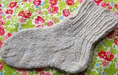 An excellent guide to knitting socks customized to any size foot; breaks down the components of sock-making.