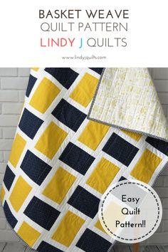 Easy quilt pattern - beginner quilt pattern - modern quilt pattern
