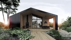 Our dream house // deco maison / architecture / home decor // Black And White House With Moments Of Kid-Friendly Quirky Decor Design Exterior, Modern Exterior, Casas Containers, Shed Homes, Modern Barn, Family Room Design, Forest House, House In The Woods, Black House