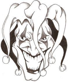 Evil Jester Drawings   EXİTTATTOO • Konuyu görüntüle - Joker Dövmeleri Dövme ...