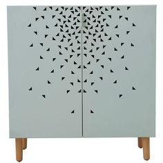 518€  95x90x40  Bois et métal  Storm Cabinet 95cm, Gris/Vert, House Doctor