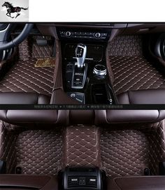 custom full set car floor mats for Audi Q7 waterproof leather 3d floor mats carpets car cargo mat floor liners suv mats