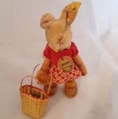 RARE Vintage Antique Easter Steiff Bunny Rabbit Bibbie German Mohair Book | eBay