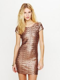 Backstage Sequin Fever Bodycon Dress - Bronze | Clothes, Accessory & Clothing