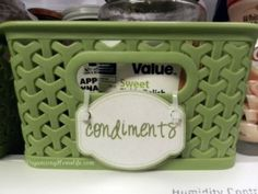 Label baskets filled with similar food groups.