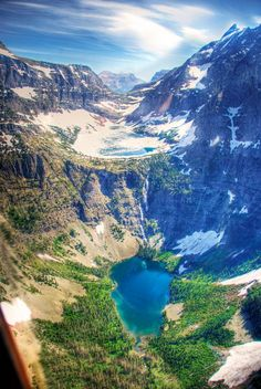 Beaver Chief Falls Glacier National Park Montana.