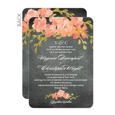 Chalkboard Floral Wedding Cards