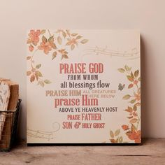 Lyrics for Life - Doxology (Praise God) - Wall Art