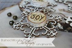 Wood Burned Christmas Snowflake Ornaments  #Christmas  #Ornaments  #HolidayCrafts
