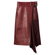 Flight Details Leather Skirt