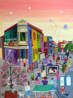Boca Life by Martha Tominaga - GINA Gallery of International Naive Art Paris Illustration, African American Art, Naive Art, Small Art, Fractal Art, Amazing Art, Folk Art, Modern Art, Images