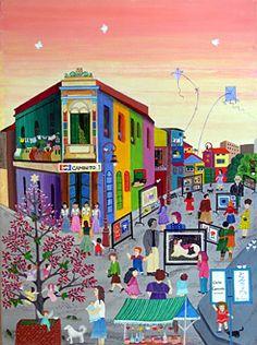 Boca Life by Martha Tominaga - GINA Gallery of International Naive Art