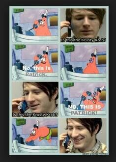 Haha, he just wants food Patrick...gosh!