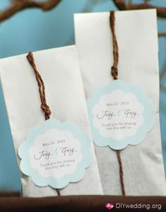 Tea bags for favors - I even have an idea for a quote!