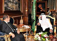 In Simply Meeting, Egyptian and Saudi Leaders Open New Era - In his first foreign visit as Egypt's newly elected president, Mohamed Morsi of the Muslim Brotherhood met Thursday with King Abdullah of Saudi Arabia, a signal that the two intended to set aside their profound ideological enmity in favor of pragmatic mutual interests.