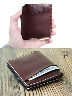 Originaly designed, user-friendly leather wallet. Awesome anniversary gift! 100% handmade from high quality cow leather