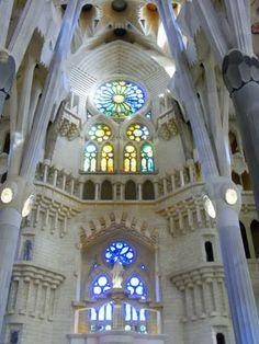 Sagrada Familia. The inside of the Temple Holy Family.  BCN