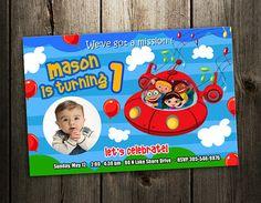 Little Einsteins Invitation birthday party invites printable photo card baby shower custom digital file