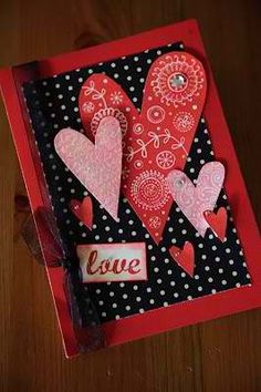 nice valentine card with glitters