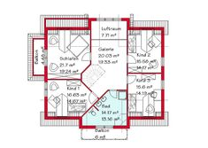 Besondere Häuser - Wohnen nach Maß | GSE HAUS Planer, Floor Plans, Front Elevation, Collection, Attic Rooms, Home Plans, House Construction Plan, Detached House, Floor Plan Drawing
