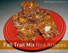 fall trail mix rice krispies