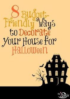 halloween decorating...there are WAY more than 8...really cute ideas!