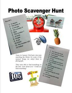 Teen Photo Scavenger Hunt on January 23 @ 5:30