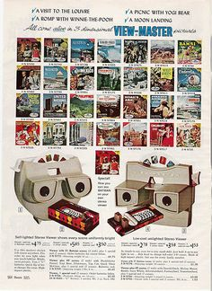 View-Master in the 1966 Sears Christmas catalog, I still have mine. My girls still play with it, love old toys! View Master, My Childhood Memories, Childhood Toys, Nostalgia, Christmas Past, Vintage Christmas, Gi Joe, Vintage Advertisements, Vintage Ads