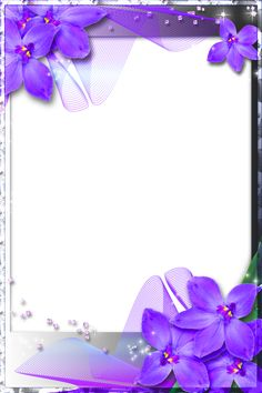 Purple Heart Frames | Beautiful Transparent Frame with Purple Orchids