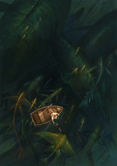 Creative Illustration, Fishing, Painting, Sandara, and Water image ideas & inspiration on Designspiration Fantasy Landscape, Fantasy Art, Arte Horror, Inspiration Art, Sea Monsters, Art Graphique, Deviant Art, Cthulhu, Belle Photo