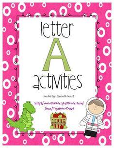 Worksheets Preschool Letter A letter g kindergarten and preschool on pinterest back to school a activities