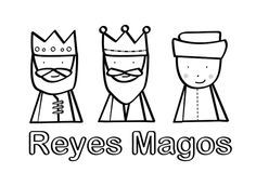 Dibujos para Colorear: Reyes Magos para colorear