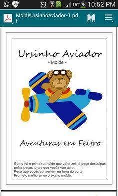 Ursinho aviador feltro