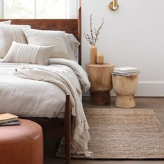We partner with artisans to create modern goods for the well-traveled home. Accent Rugs, Accent Pillows, Modern Bedroom, Bedroom Decor, Scandi Bedroom, Bedroom Inspo, Bedroom Ideas, Master Bedroom, Scandi Living