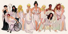 The Real Power of the DC Universe: Catwoman, Batgirl/Oracle, Zatanna, Black Canary, Power Girl, Wonder Woman, Supergirl, Vixen, Batwoman, Poison Ivy, and Harley Quinn. :)