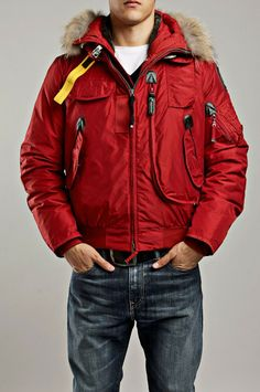 Parajumpers Gobi Bomber Parka Red Men