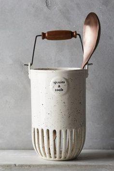 Dairy Pail Utensil Jar #Anthropologie