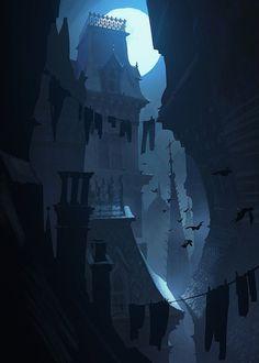 victorian favelas by scott duquette Spectrum The Best in Contemporary Fantastic Art Environment Concept, Environment Design, Fantasy Landscape, Landscape Art, Animation Background, Visual Development, Environmental Art, Fantasy World, Illustrations