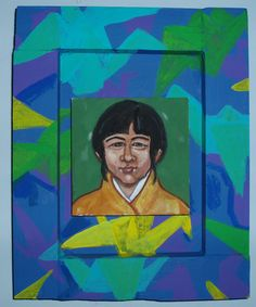 "Sadako Sasaki Mixed media on board 8"" x 10"""