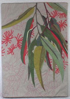 In My Portfolio: Eucalyptus Extension 1 | Ruth de Vos: Textile Art