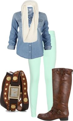 """fall denim"" by allykay93 on Polyvore"