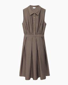 Suno  Inverted Pleat Dress
