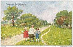 Postcards > Topics > Children > Children's drawings - Delcampe.net