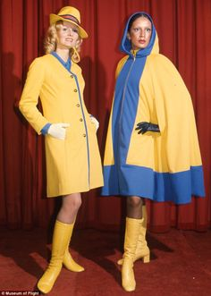 In the early 1970s, American artist and designer Mario Armond Zamparelli was contracted by Howard Hughes to create a new corporate image, as well as flight attendant uniforms for Hughes' recently acquired airline. The most recognized of Hughes uniforms was the Sundance Yellow