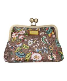Look what I found on #zulily! Tobacco French Flowers Frame Cosmetic Bag & Pocket Mirror #zulilyfinds
