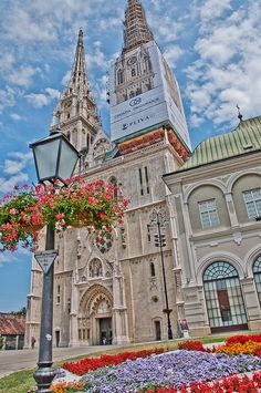 Zagreb Cathedral, Croatia. Built in the Neo-Gothic style with two 108-meter high spires #travel #visitzagreb #lobagolabnb